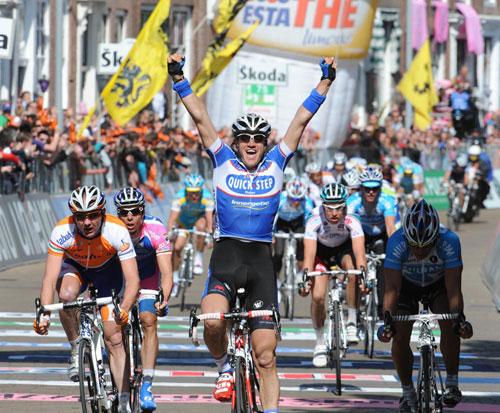 Wouter Weylandt wins, Giro d'Italia 2010, stage 3