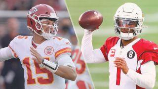 Chiefs vs Cardinals live stream NFL — Patrick Mahomes of the Kansas City Chiefs and Kyler Murray of the Arizona Cardinals