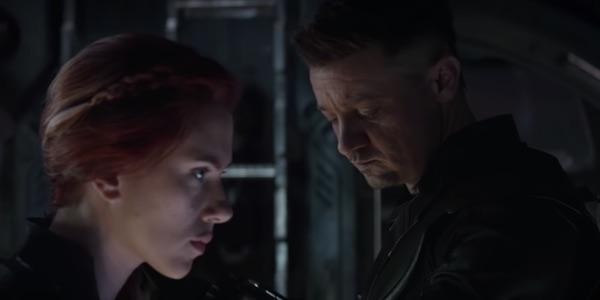 Natasha and Clint in Endgame