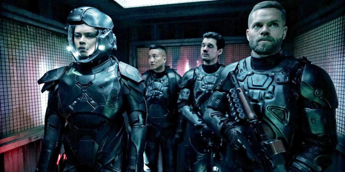 Some of the main characters of The Expanse on Amazon Prime.