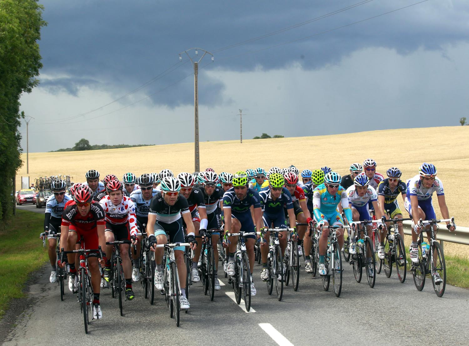 Clouds looming, Tour de France 2011, stage six