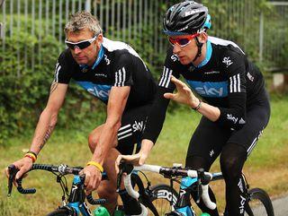 Sean Yates and Bradley Wiggins