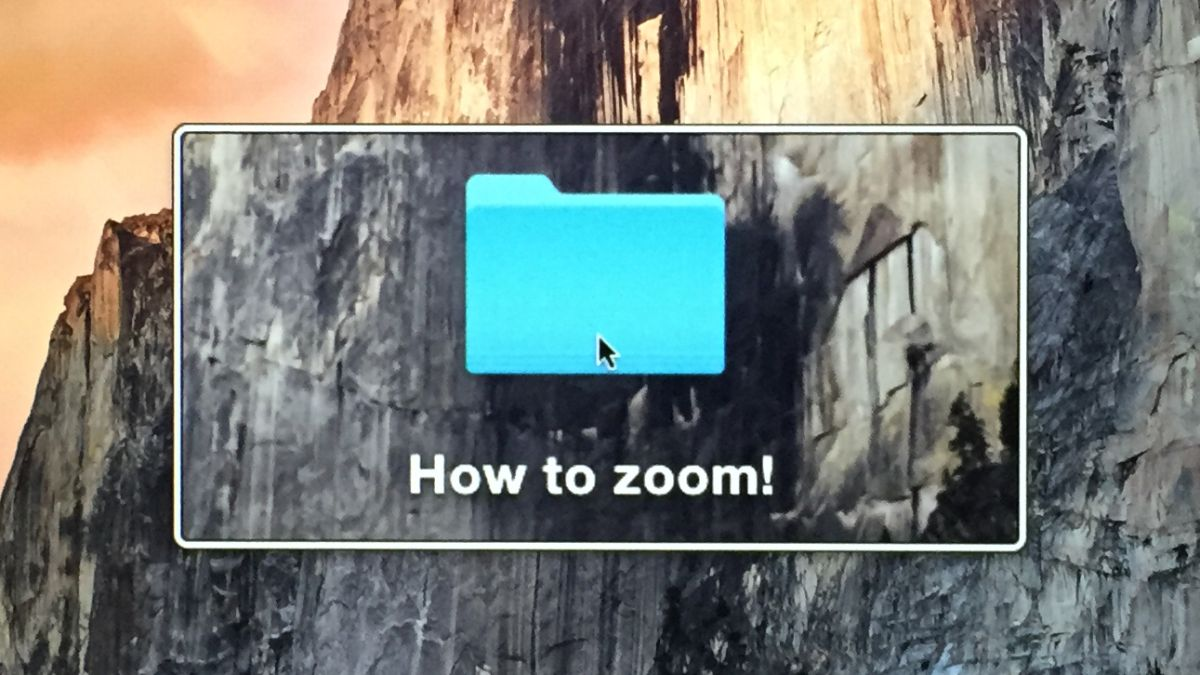 How to zoom in on a Mac
