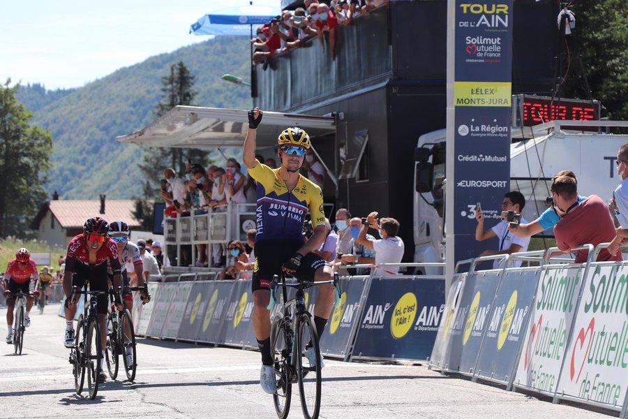 Primoz Roglic wins stage 2 of the Tour de l'Ain