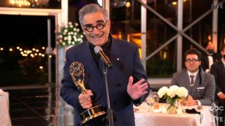 Eugene Levy at the 72nd Emmy Awards.