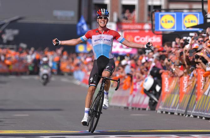Bob Jungels (Quick-Step Floors) wins 2018 Liege-Bastogne-Liege