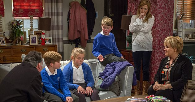 Brenda Hope reveals Heath has hit Arthur when he was asked about Bob Hope's affair but Bob sees Brenda in a new light after she handles the situation well, and he vows to get her back – Also pictured Laurel Thomas in Emmerdale