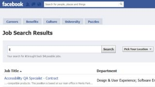 FaceBook to get a job board