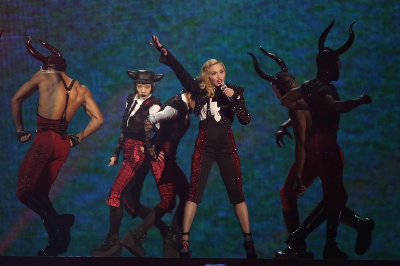Madonna at the Brits