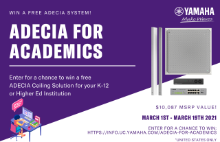Yamaha UC Hosts School Giveaway for ADECIA Ceiling Solution
