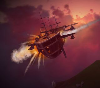 Worlds Adrift ship shot