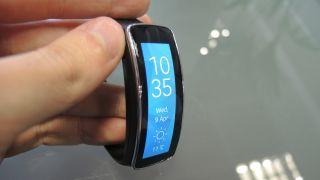 Samsung Gear Fit vertical screen