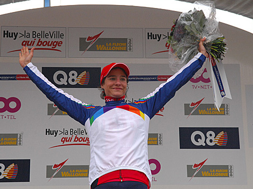 Marianne Vos world cup leaders jersey