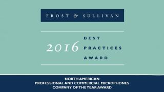 Frost & Sullivan Names Shure 2016 North America Company of the Year