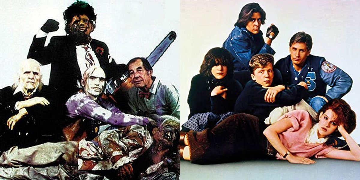 The Texas Chainsaw Massacre 2 and breakfast club side-by-side poster