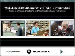 Wireless Networking for 21st Century Schools: Guide to Wireless Broadband and Wireless Local Area Networking