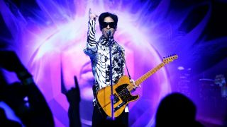 "Musician Prince performs his first of three shows onstage during ""One Night... Three Venues"" hosted by Prince and Lotusflow3r.com held at NOKIA Theatre L.A. LIVE on March 28, 2009 in Los Angeles, California"
