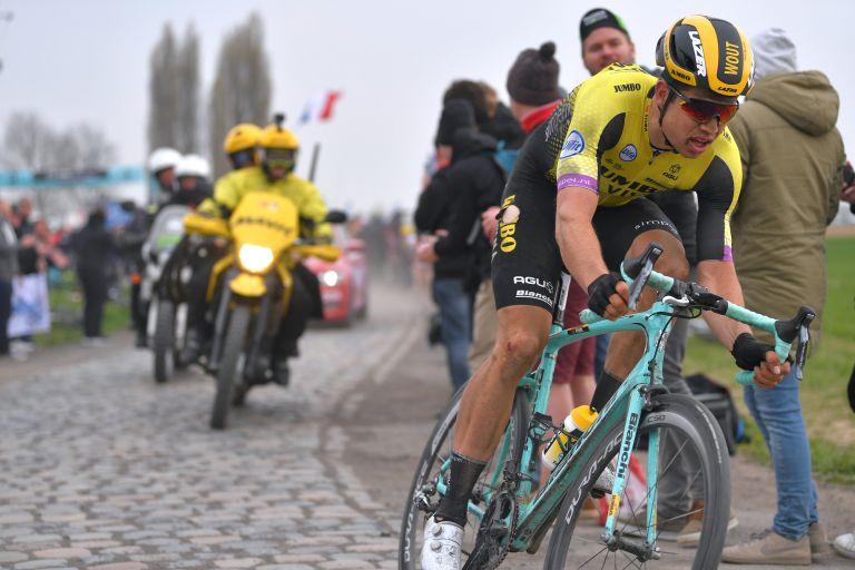 Wout van Aert at the 2019 Paris-Roubaix