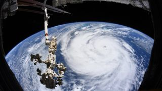 Hurricane Ida as seen from the International Space Station on Aug. 29, 2021
