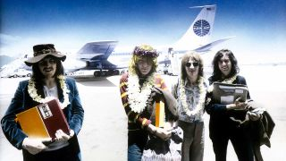Led Zeppelin in Hawaii with the master tapes of Led Zeppelin II, May 1969