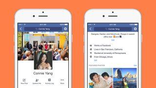 Facebook updated profiles
