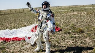 Felix Baumgartner breaks YouTube and sound barriers