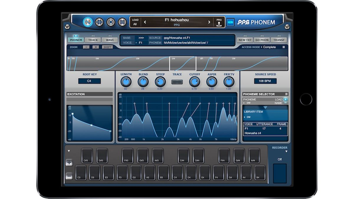 Mobile Phonem: Wolfgang Palm's PPG vocal synth comes to iPad