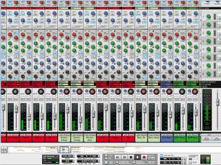 Record s mixer is modelled on an SSL 9000k