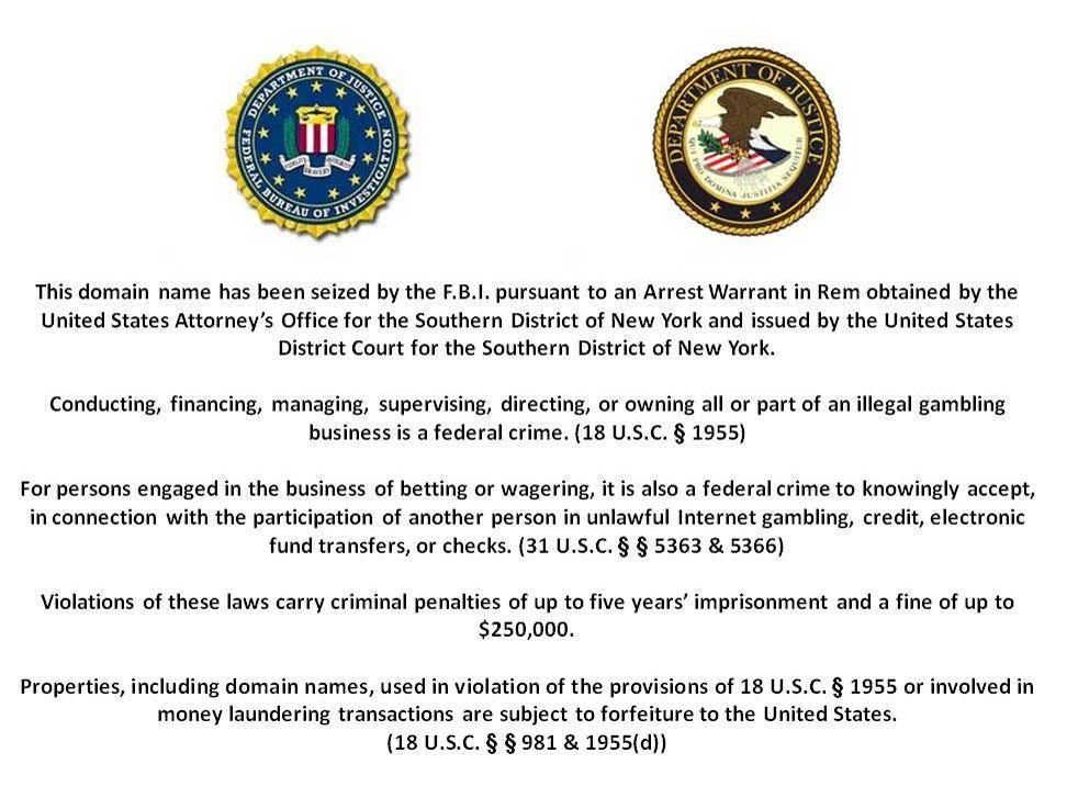 Cryptocurrency website seized fbi