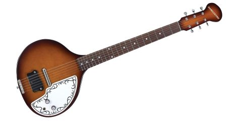 The thermometer-style body shape makes the Baby Sitar nigh-on impossible to play sitting down