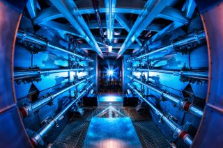 laser preamplifier at the national ignition laboratory where scientists are studying fusion