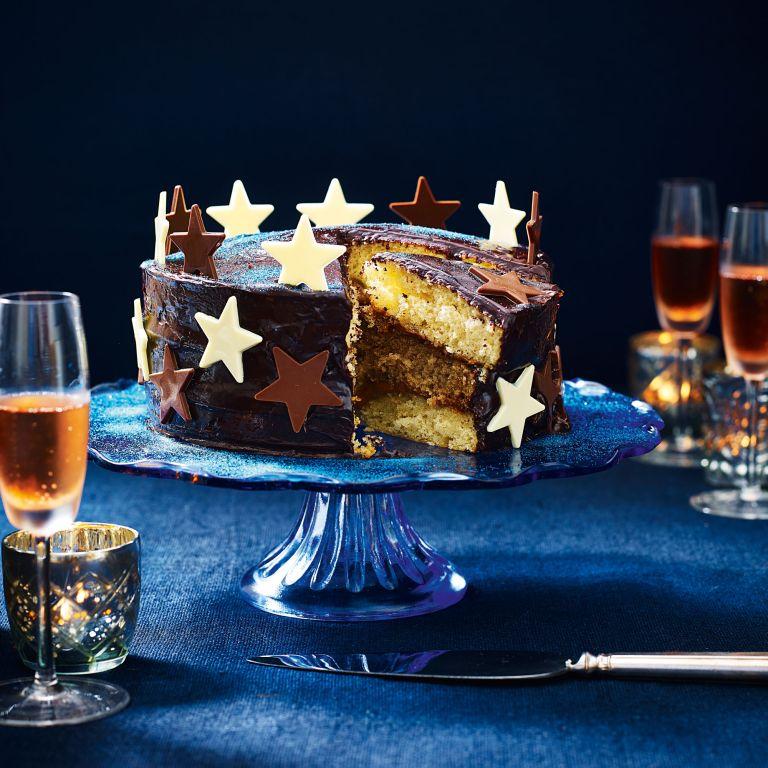 Chocolate, Coffee and Vanilla Layer Cake