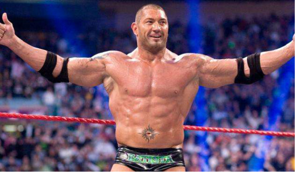 dave bautista in the ring