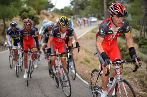 Jose Rubiera leads RadioShack, Tour of Murcia 2010, stage three