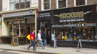 Part of Denmark Street, pictured in 2009 - Rockers has since ceased trading