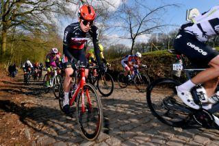 Harry Sweeny (Lotto Soudal) racing in the Bredene Koksijde Classic