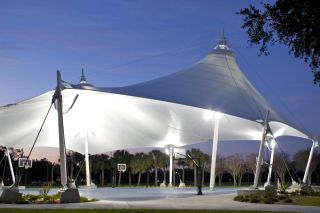 Tent on Eckerd College campus.