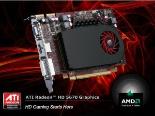AMD s ATI Radeon 5670 DX11 card