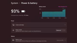 Windows 11 Power & battery screenshot