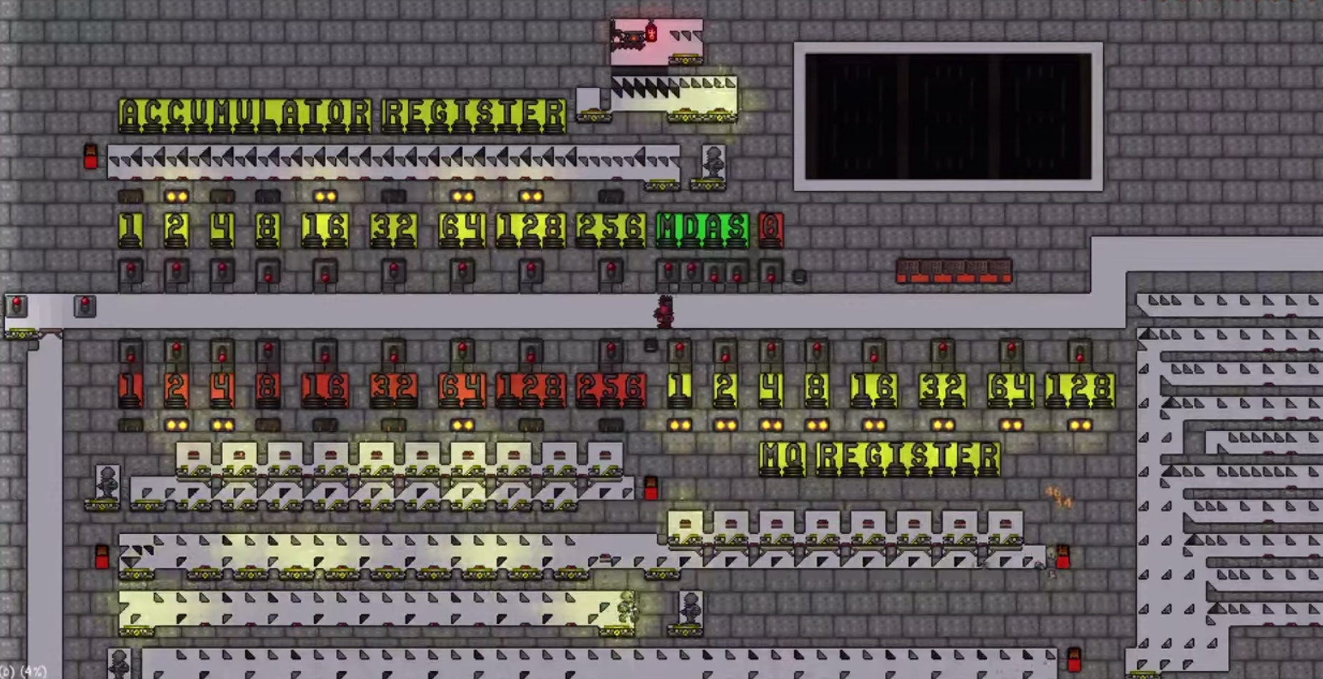 Terraria player builds in-game binary-to-decimal calculator | PC Gamer