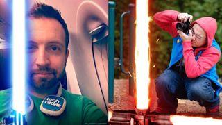 Star Wars Facebook lightsaber profile pics