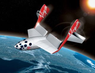 Virgin's Spaceship One - launching in a desert near you sometime soon...