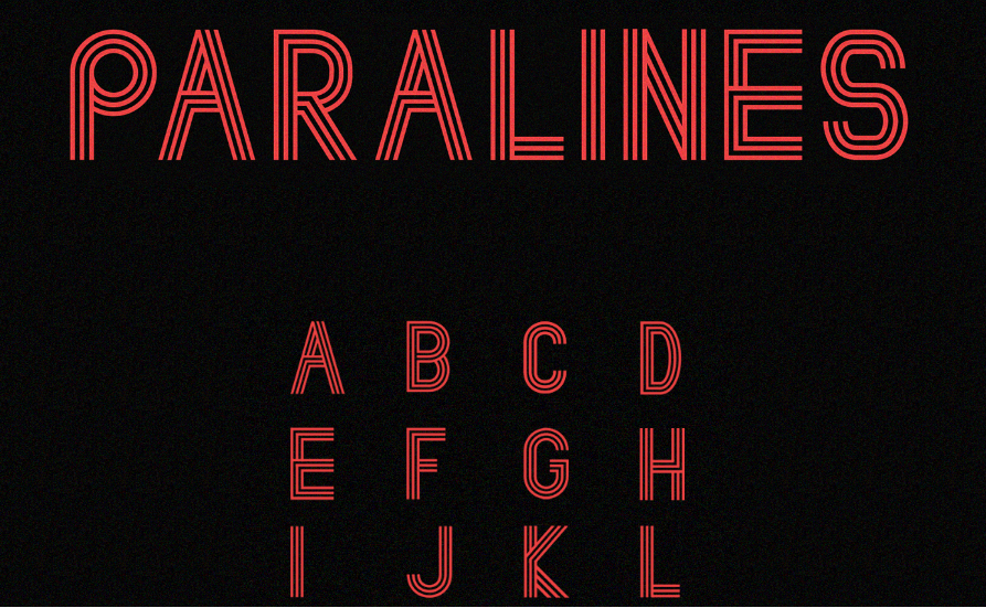 Best free fonts: Paralines