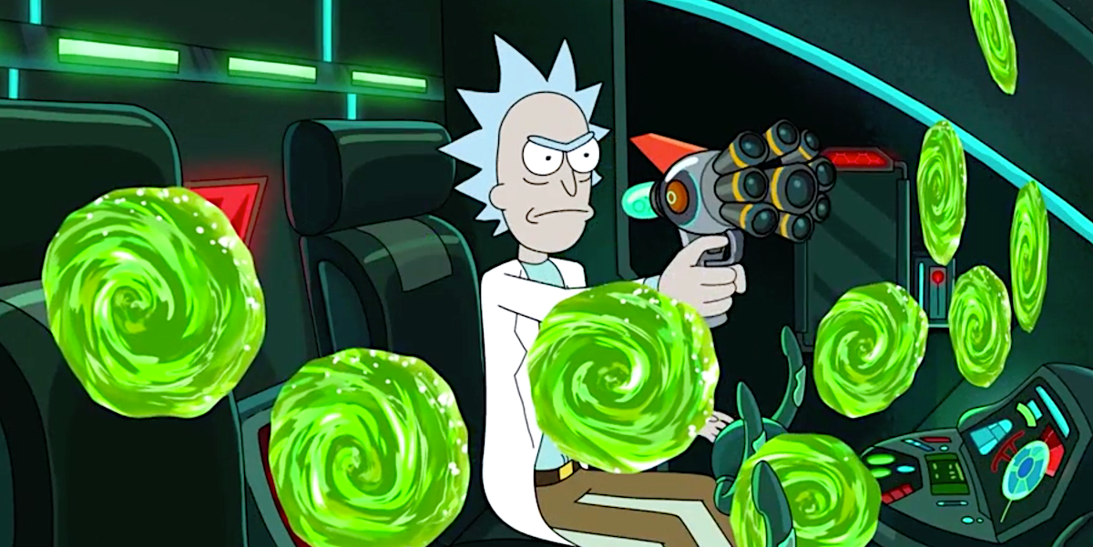 rick and morty rick and lots of portals