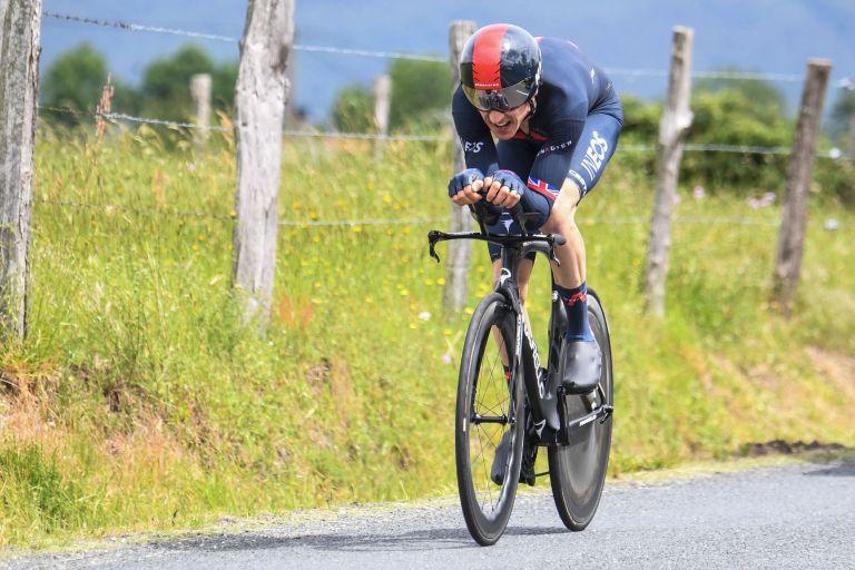 Geraint Thomas on his way to winning the Tour de Romandie 2021