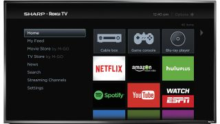 Sharp integrates with Roku