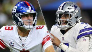 Daniel Jones and Dak Prescott will face off in the Giants vs Cowboys live stream