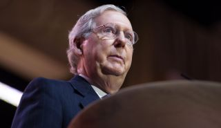 Sen. Mitch McConnell (R-Kentucky) at the Conservative Political Action Conference in National Harbor, Maryland, in March 2014.