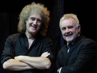 Brian May and Roger Taylor going through old drawers
