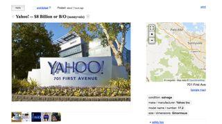 Yahoo Craigslist ad